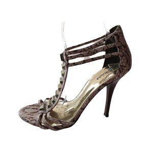 Marciano Snakeskin Stamped Leather Stilettos 8M